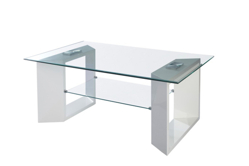 Table basse golf blanc brillant l 110 x h 45 x p 70 Table basse personnalisee photo