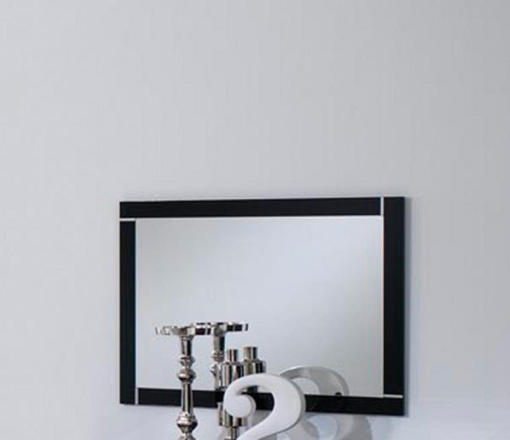 Miroir city laque noir chambre coucher noir for Miroir chambre