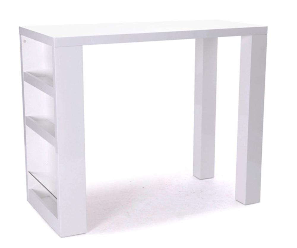 Bar americano blanc brillant Fly table de cuisine