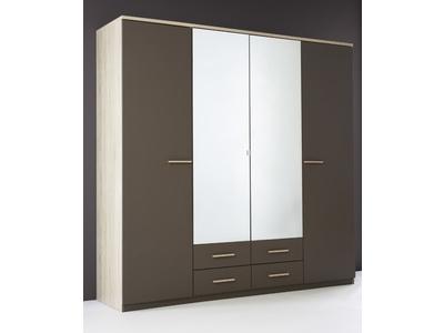 Armoire 4 portes 4 tiroirs Selena
