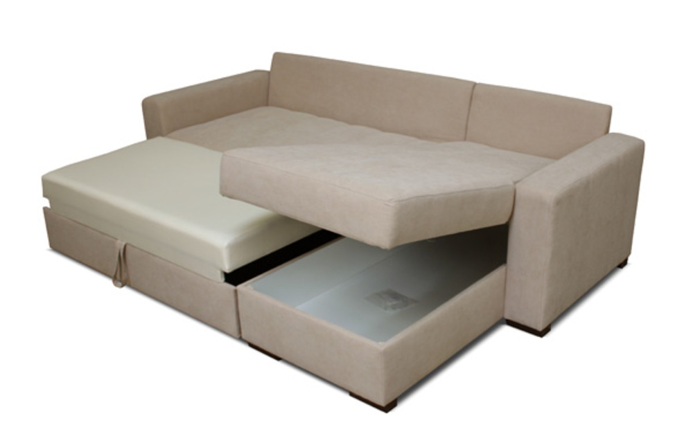 Canape d 39 angle convertible messi beige avila 3 for Canape confortable convertible