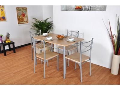 table murale 2 tabourets sinai blanc. Black Bedroom Furniture Sets. Home Design Ideas