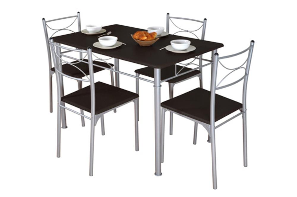 Table 4 chaises tuti wengue - Ikea table cuisine haute ...