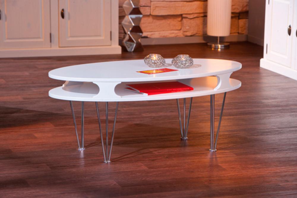 Table basse minuto blanc mat for Salontisch design