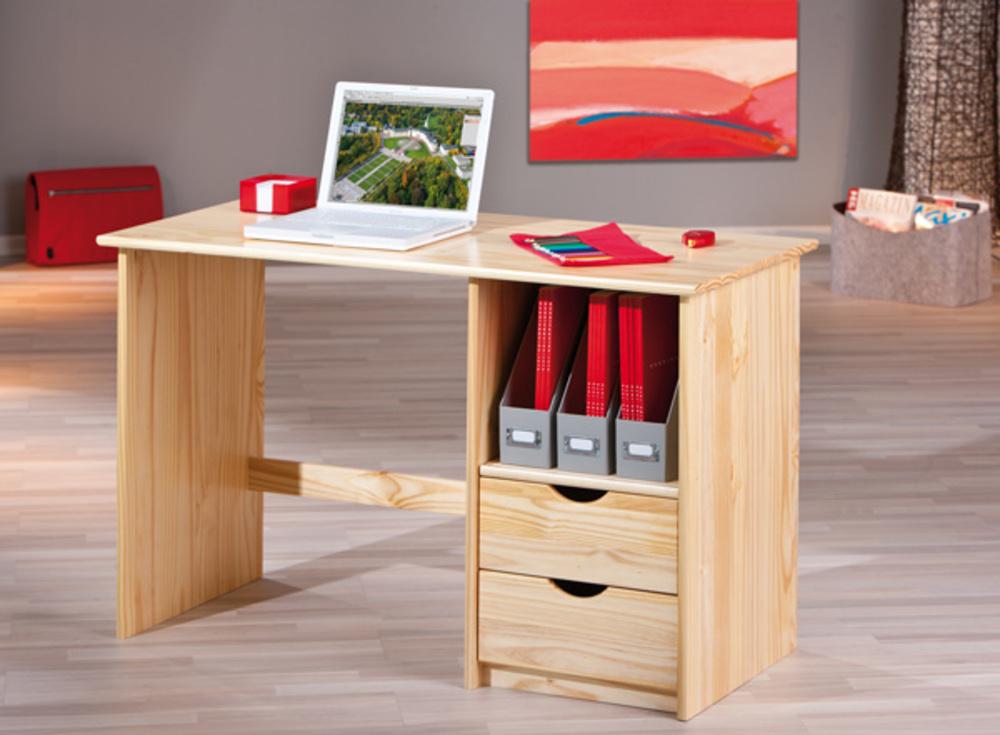 bureau sinus pin naturel. Black Bedroom Furniture Sets. Home Design Ideas