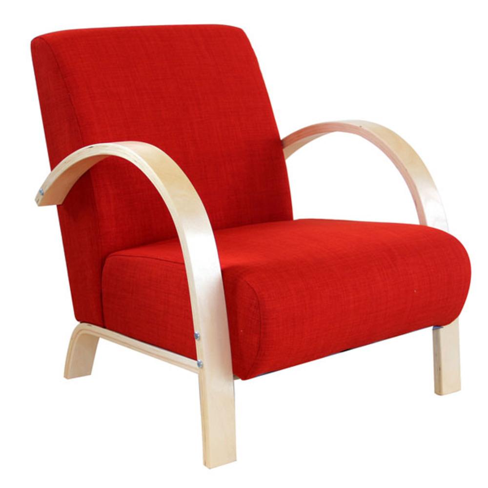 fauteuil bjor orange. Black Bedroom Furniture Sets. Home Design Ideas