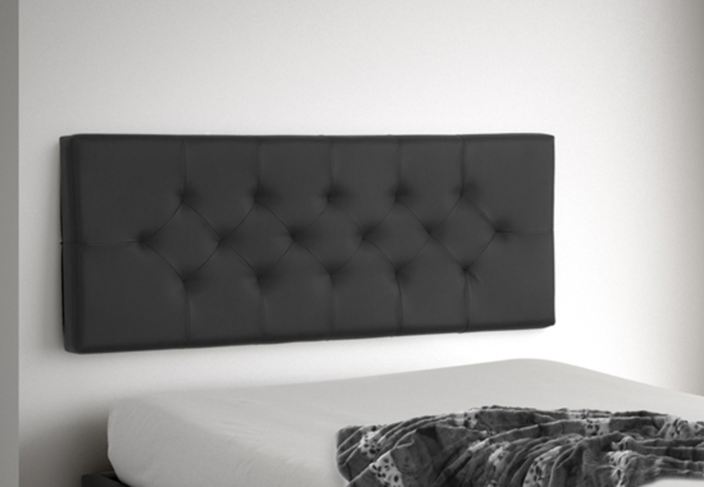 tete de lit suspendre indo noir l 155 x h 60 x p 10. Black Bedroom Furniture Sets. Home Design Ideas
