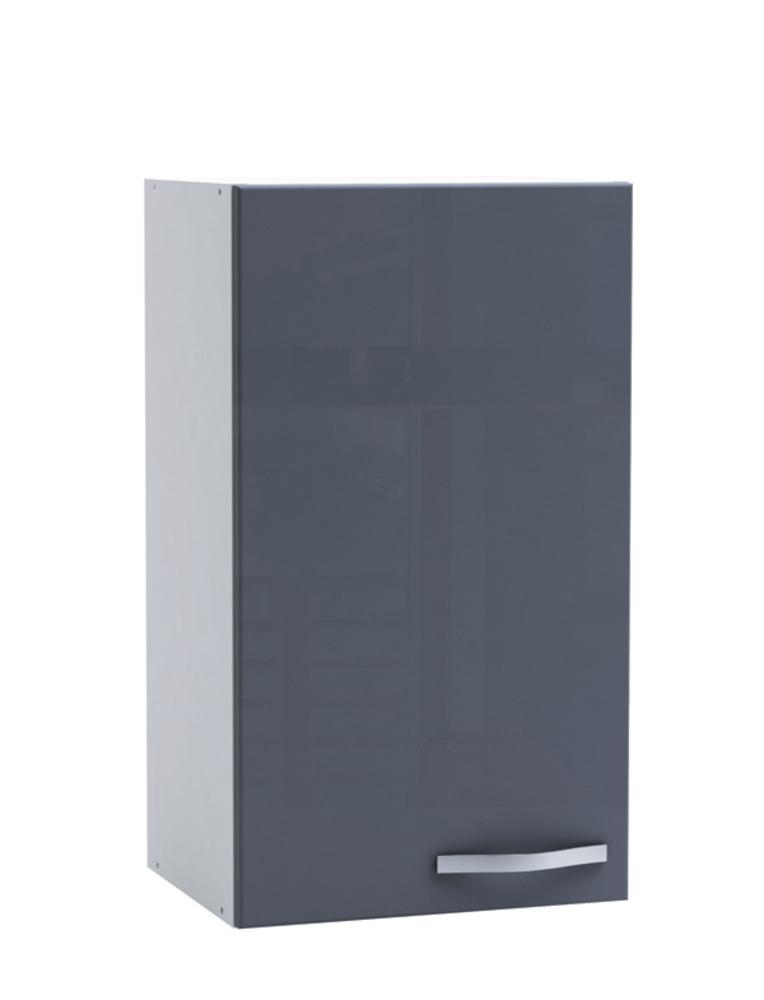 haut 40 1 porte spicy gris brillant blanc mat. Black Bedroom Furniture Sets. Home Design Ideas