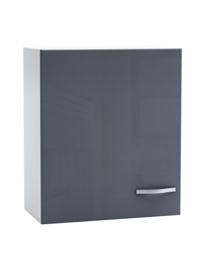 haut 60 1 porte spicy gris brillant blanc mat. Black Bedroom Furniture Sets. Home Design Ideas