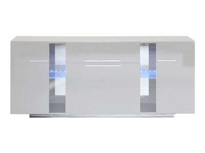 Bahut 3 portes 1 tiroir Vertigo blanc brillant