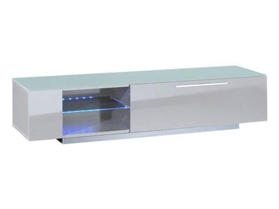Meuble tv 1 tiroir Vertigo blanc brillant