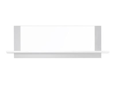 Miroir avec tablette Vertigo blanc brillant