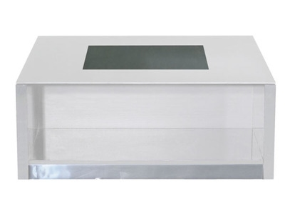 Table basse Vertigo blanc brillant