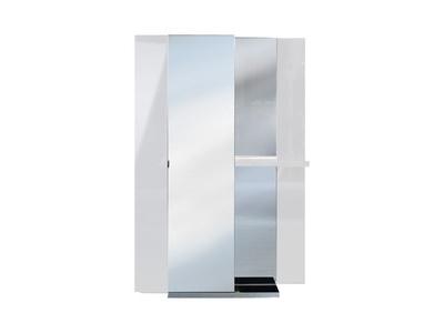 Vestiaire 2 portes Vertigo blanc brillant
