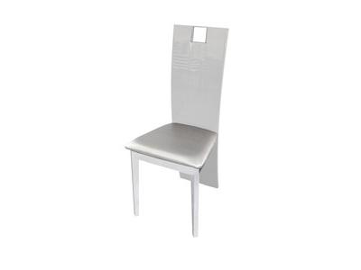 Chaise Vertigo blanc brillant