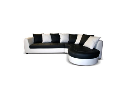 Canapé d'angle à droite Haricot
