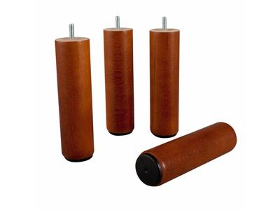 Cylindrique en bois Pied pour sommier