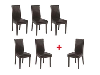 Lot de 5 chaises+1 offerte Guevara
