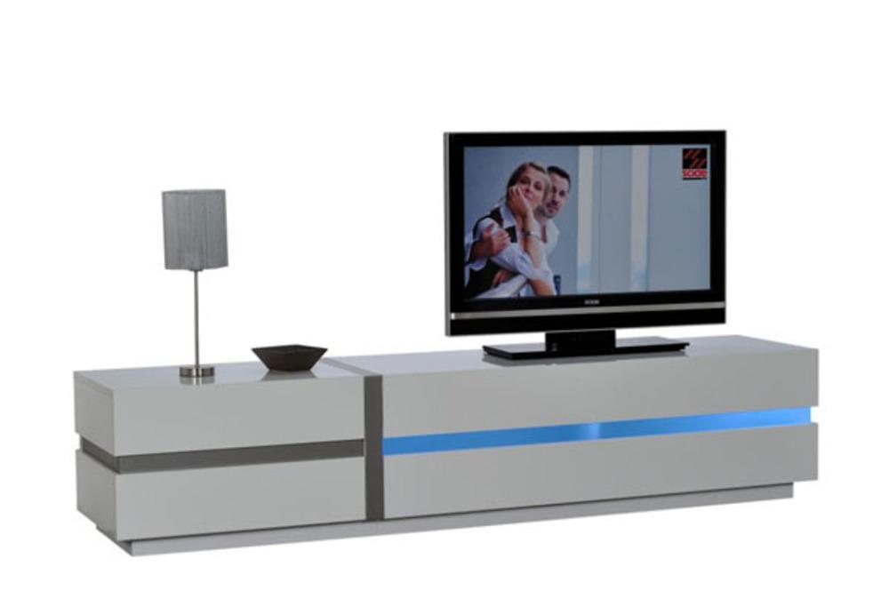 meuble tv lighty blanc brillant. Black Bedroom Furniture Sets. Home Design Ideas