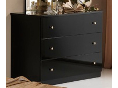 Commode 3 tiroirs Athena chambre a coucher noir