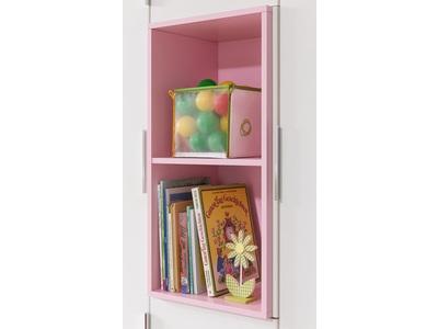 Etagere niche pour armoire ref 476/477/478 Joris chambre bebe blanc/rose