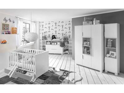 Etagere murale Joris chambre bebe blanc/rose