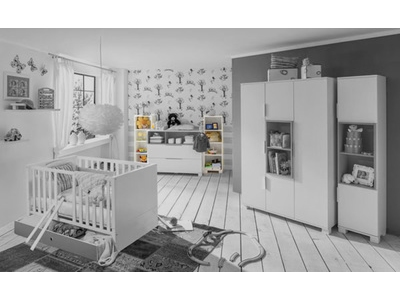 Etagere Joris chambre bebe blanc/gris sable