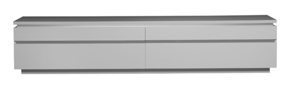 Meuble tv electra laque blanche blanc brillant - Banc tv blanc laque ...