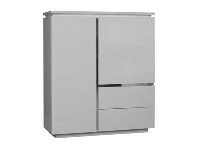 Element 2 portes et 2 tiroirs Electra laque blanche