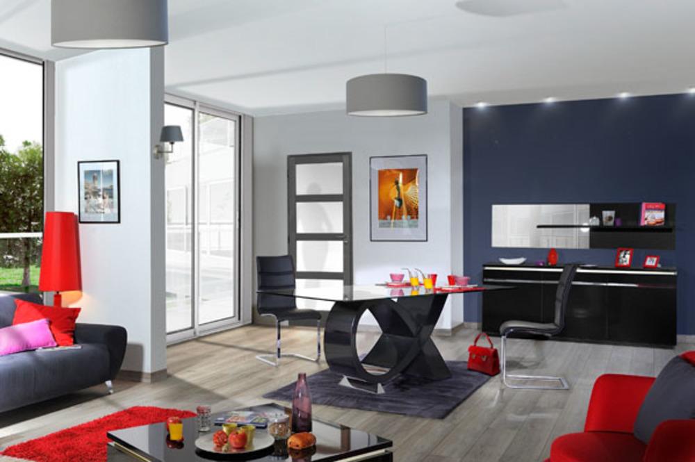 Bahut 3 portes electra laque noir noir brillant for Meuble de salle a manger noir