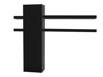 Element suspendu 1 porte 4 tablettes Electra laque noir