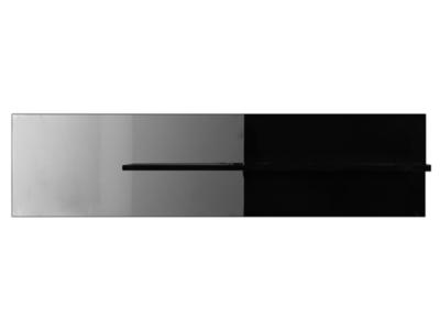 Miroir 1 tablette Electra laque noir