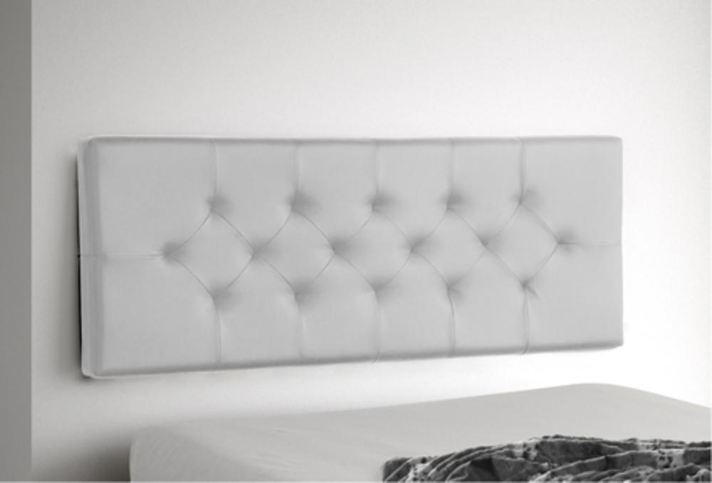 tete de lit à suspendre indo blanc l 165 x h 60 x p 10