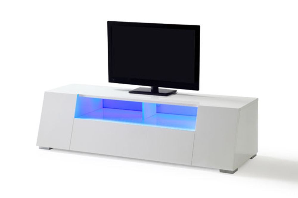 Meuble tv bizo blanc brillant - Meuble tv blanc brillant ...