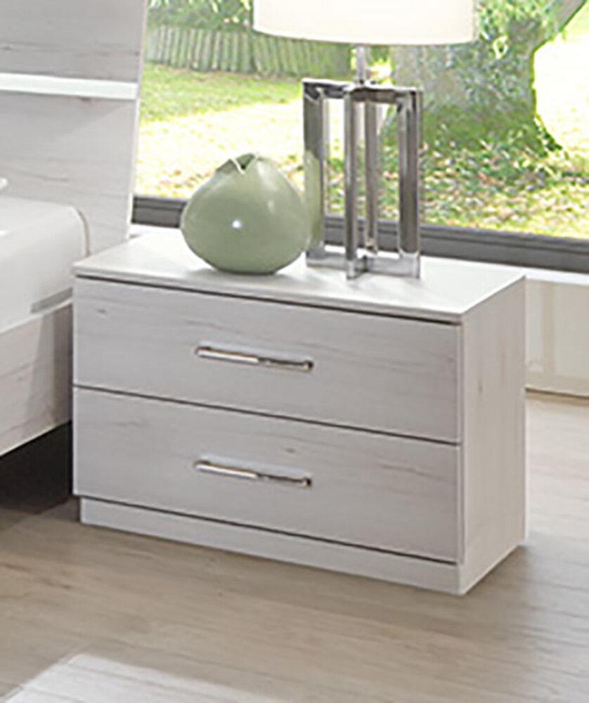 chevet 2 tiroirs anna chambre coucher chene blanc. Black Bedroom Furniture Sets. Home Design Ideas