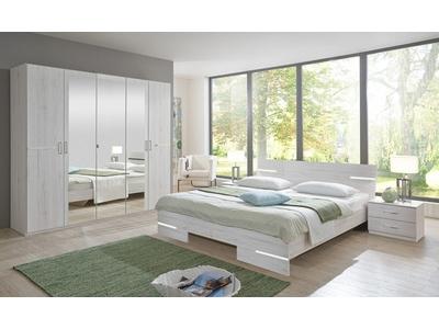 Commode 6 tiroirs Anna chambre à coucher chene blanc