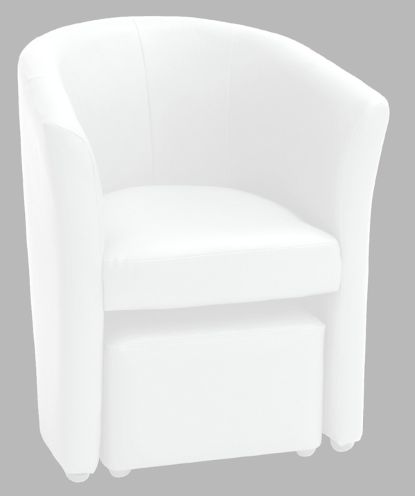 fauteuil pouf arcade blanc. Black Bedroom Furniture Sets. Home Design Ideas