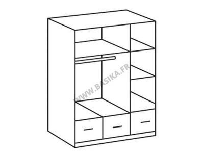 Armoire 3 portes 3 tiroirs Imago