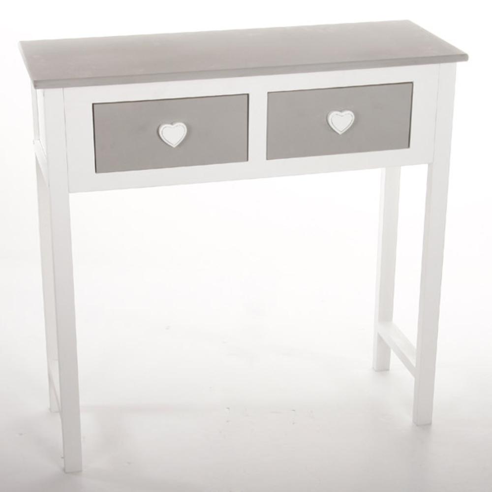 Console 2 tiroirs leonce for Petit meuble sejour