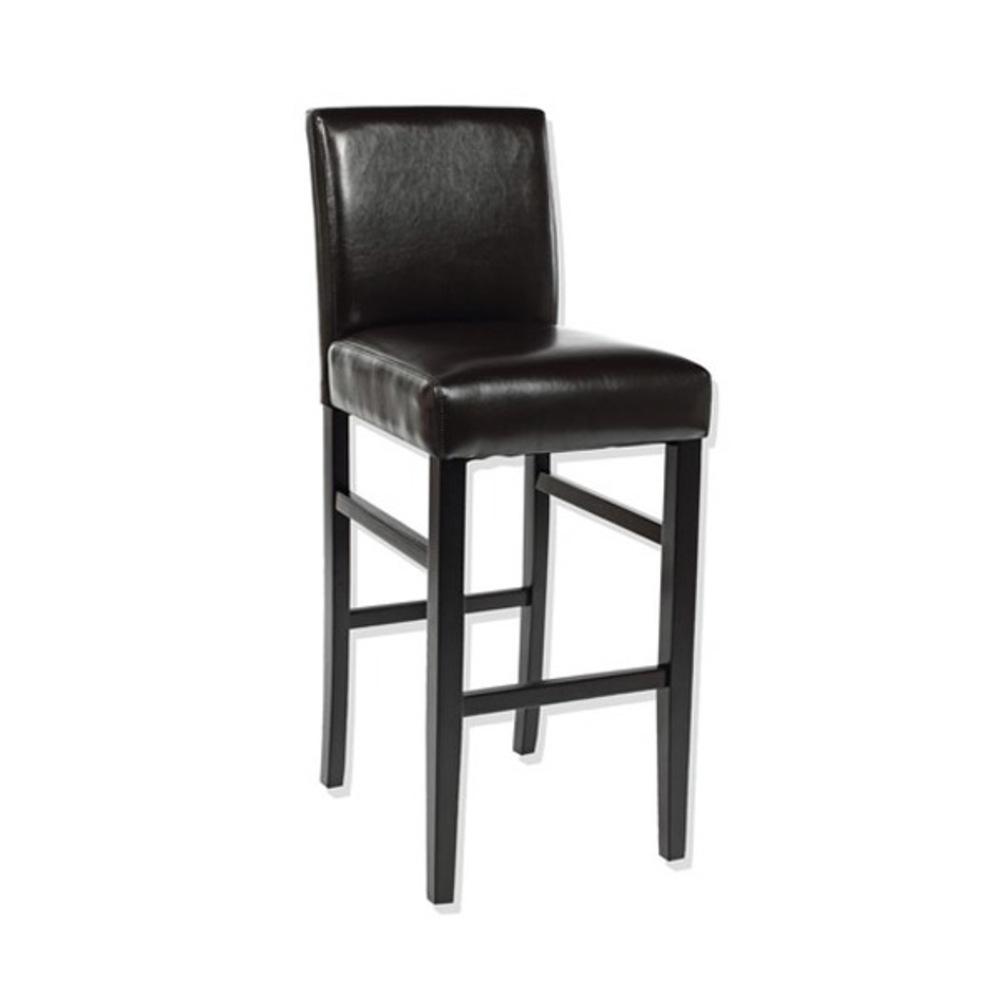 Tabouret de bar dowtown marron for Tabouret chaise haute cuisine