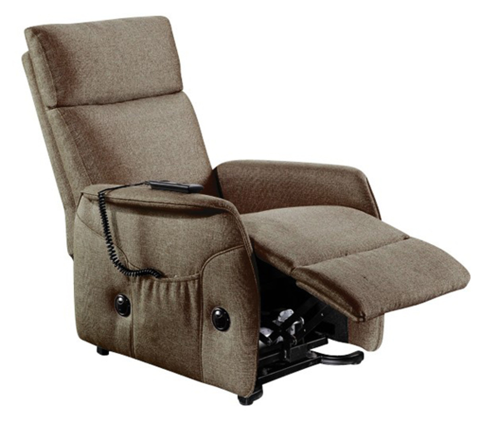 Fauteuil relax relevable elevato chocolat - Fauteuil relax discount ...
