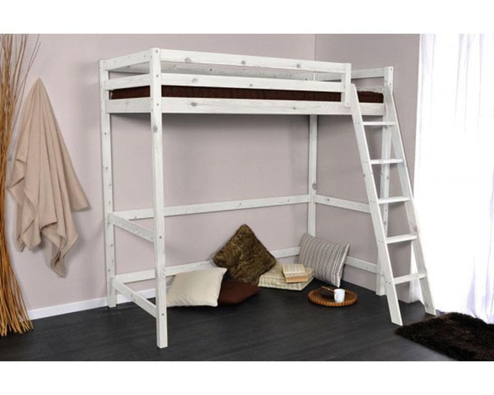 lit mezzanine alix pin blanchi. Black Bedroom Furniture Sets. Home Design Ideas