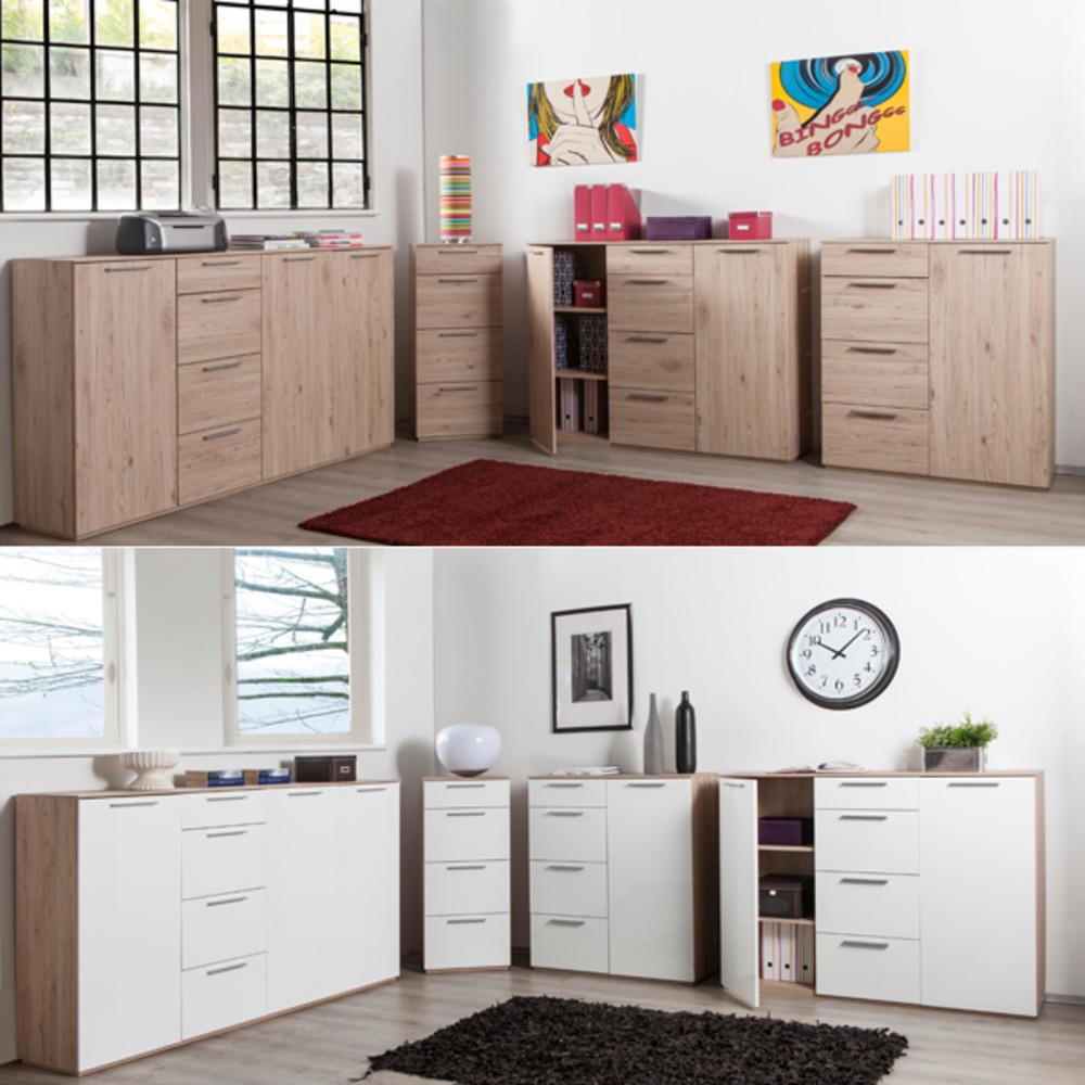 bahut 2 portes 4 tiroirs semplice. Black Bedroom Furniture Sets. Home Design Ideas