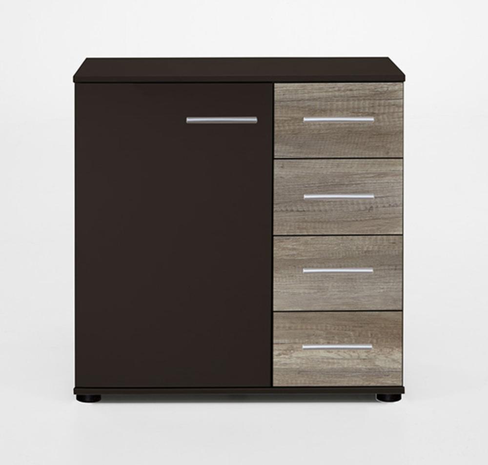 commode 1 porte 4 tiroirs francy lave chene sauvage. Black Bedroom Furniture Sets. Home Design Ideas