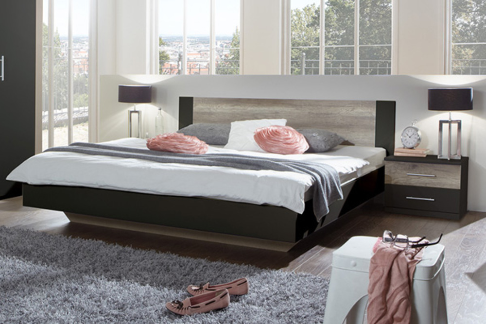 lit francy lave chene sauvagel 149 x h 80 x p 200. Black Bedroom Furniture Sets. Home Design Ideas