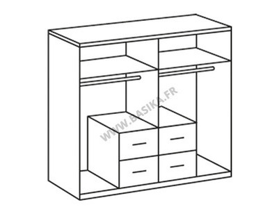 Armoire 4 portes 4 tiroirs Add on f