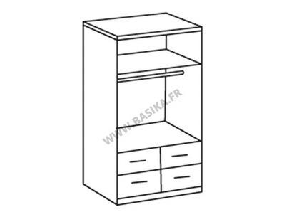 Armoire 2 portes 2 tiroirs Add on f