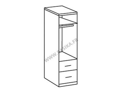 Armoire 1 portes 2 tiroirs Add on f