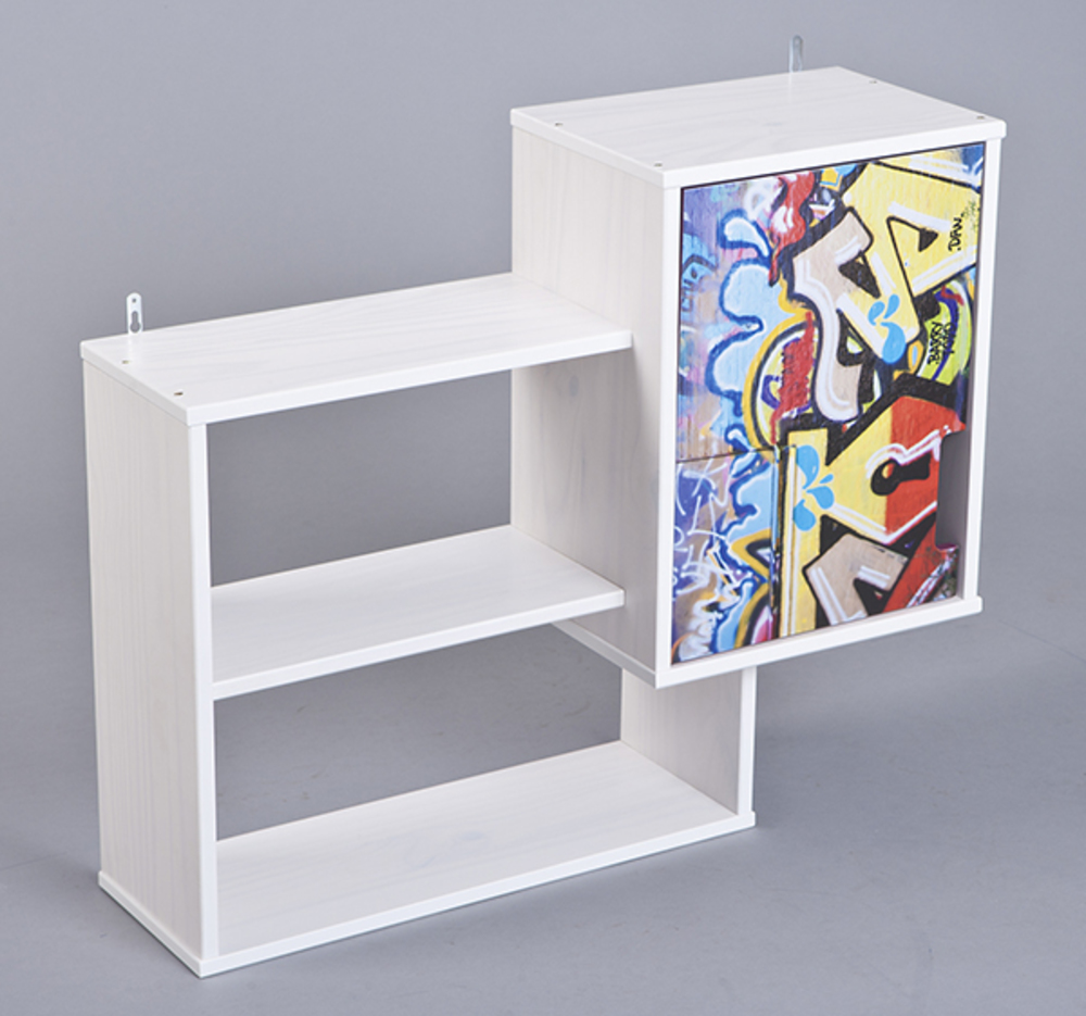 etagere murale kidz grafiti blanc grafity. Black Bedroom Furniture Sets. Home Design Ideas
