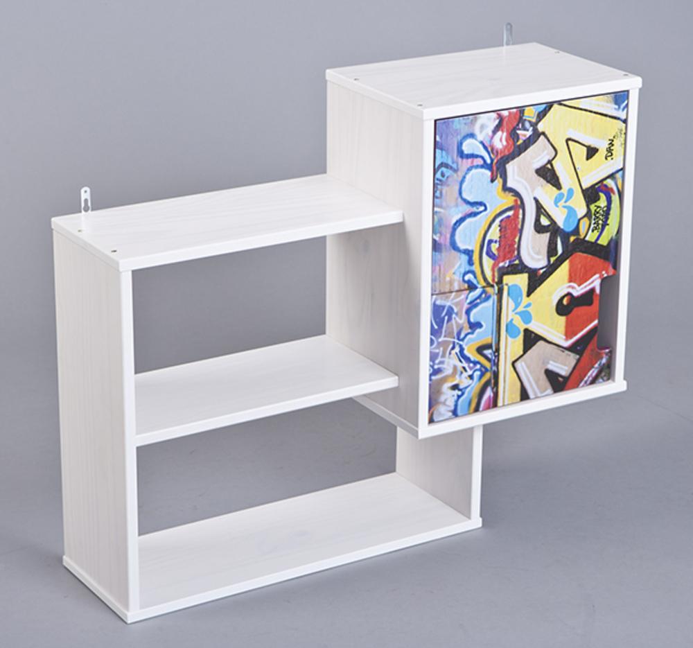 etagere murale kidz grafiti blanc grafity. Black Bedroom Furniture Sets. Home Design Ideas